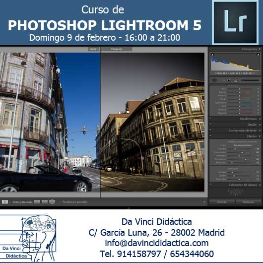 Curso Lightroom DaVinci Didactica en Madrid
