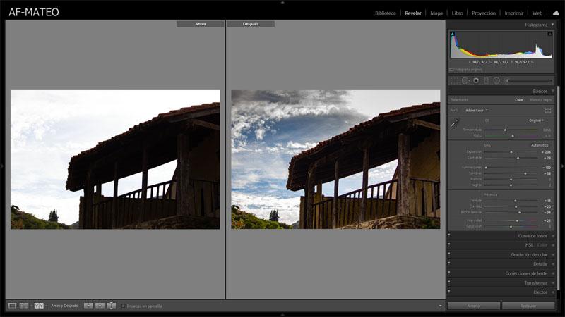 Lightroom – Cómo ver el antes y el después de los ajustes